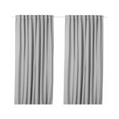 IKEA イケア 遮光カーテン(わずかに透光) 1組 グレー 145x178cm m90512275 VILBORG