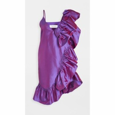 マルケス アルメイダ Marques Almeida レディース ワンピース スリップドレス ワンピース・ドレス Ruffle Slip Dress Purple