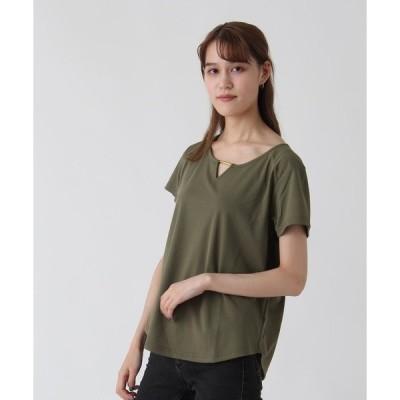 tシャツ Tシャツ 【RAPICHE】衿ぐりバーデザインプルオーバー
