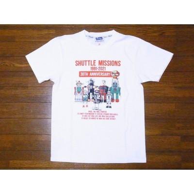 Pherrow's[フェローズ] Tシャツ 21S-PT4 SHUTTLE MISSIONS (ホワイト)