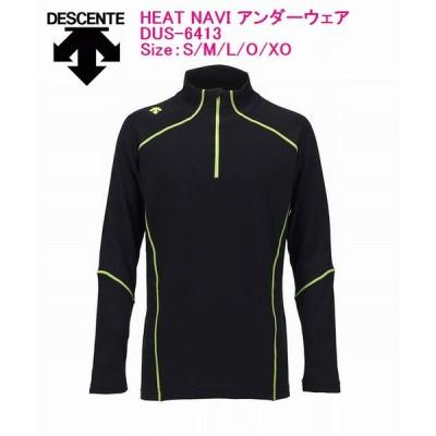 DESCENTE デサント HEAT NAVI UNDER SHIRTS DUS-6413  UNISEXアンダーシャツ BLK/ブラック S M L O XO