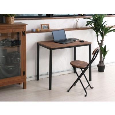 永井興産 NK-115 ヴィンテージテーブル 机 つくえ デスク 木目 ブラウン 新生活 単身 仕事 スチール 高級感 4532947115012