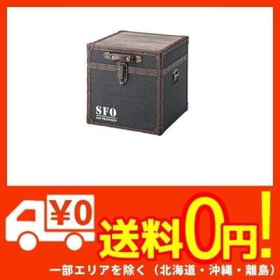 東谷(Azumaya-kk) 収納ボックス ブルー 幅40×奥行40×高さ40cm ボックステーブル トランク IW-350