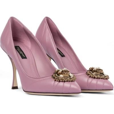 ドルチェ&ガッバーナ Dolce & Gabbana レディース パンプス シューズ・靴 devotion leather pumps Pink