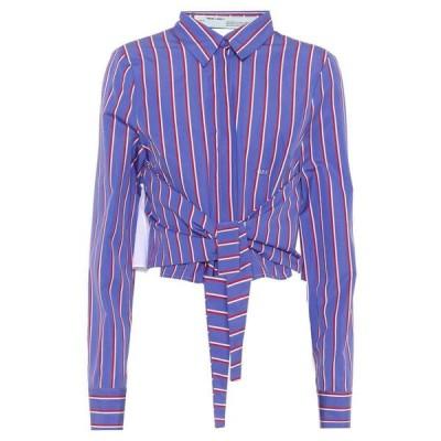 オフホワイト Off-White レディース ブラウス・シャツ トップス striped cotton shirt White Purple