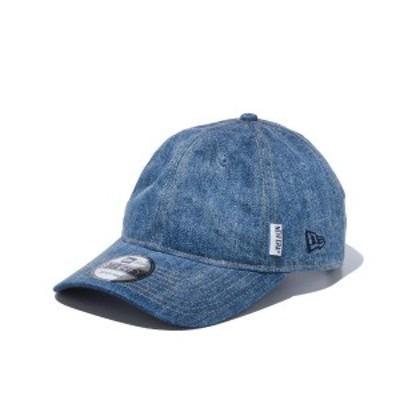 ニューエラ キャップ 帽子 メンズ レディース デニム ヒッコリー ウォッシュ加工 9THIRTY NEW ERA シール クロスストラップ サイズ調節