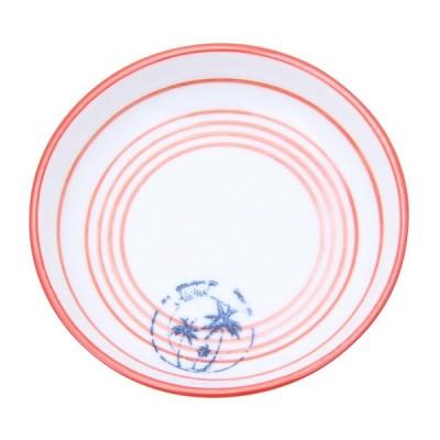 6個セット サマープレート Φ9.5cm 皿 お皿 食器 うつわ  さら サラ 器 ランチプレート カフェ ギフト 贈り物 プレゼント おしゃれ かわいい レッド