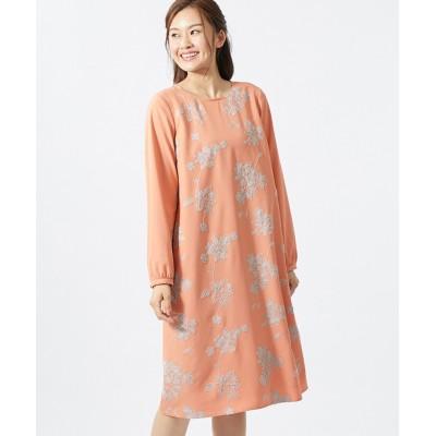 大きいサイズ 大人の刺しゅうワンピース(オトナスマイル) ,スマイルランド, ワンピース, plus size dress