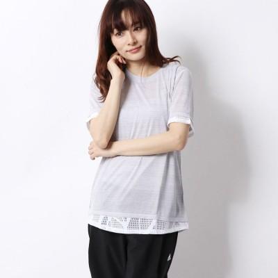 プーマ PUMA レディース フィットネス 半袖Tシャツ STUDIO ミックス レース Tシャツ 519248