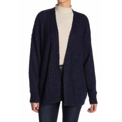 Union ユニオン ファッション トップス 14th & Union NEW Blue Womens Size XL Cable Knit Open Front Cardigan