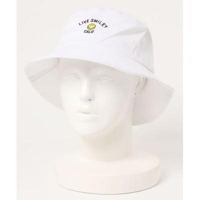 Port / 【 LIVE SMILEY / リブ スマイリー 】 SMILEY 刺繍 バケットハット WOMEN 帽子 > ハット