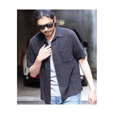 (RATTLE TRAP/ラトルトラップ)オープンカラー半袖シャツ/メンズ ブラック