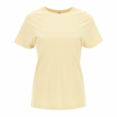 TOTEME/トーテム Beige Toteme t-shirt monogram embroidery レディース 春夏2021 212 439 770 ik