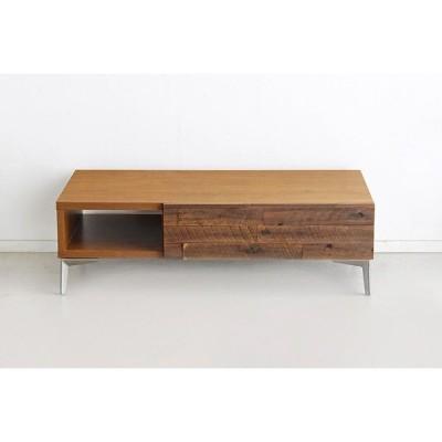 センターテーブル リビングテーブル 幅105cm 木製 アカシア無垢 木目 引き出し 収納付き ローテーブル 机 作業台 おしゃれ 高級感