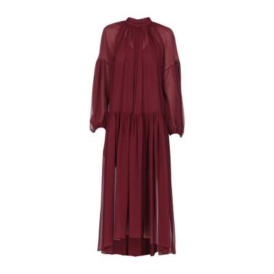 ステラ マッカートニー STELLA McCARTNEY ロングワンピース&ドレス ボルドー 34 シルク 100% ロングワンピース&ドレス