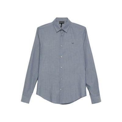 エンポリオ アルマーニ EMPORIO ARMANI シャツ ブルー XL コットン 100% シャツ
