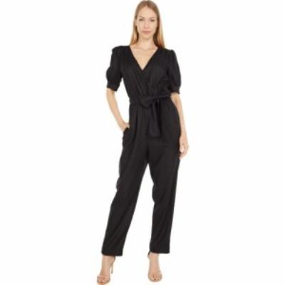 マイケル コース MICHAEL Michael Kors レディース オールインワン ジャンプスーツ ワンピース・ドレス Solid Wrap Jumpsuit Black