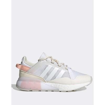 アディダス レディース スニーカー シューズ adidas Originals ZX 2K Boost Pure sneakers in white
