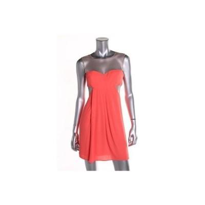 ビーシービージー ドレス ワンピース BCBG Max Azria 5435 レディース オレンジ mesh Inset Clubwear ドレス Petites 12P BHFO