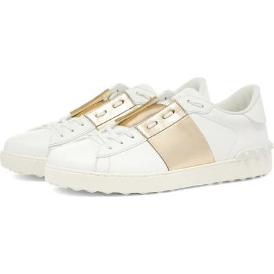 ヴァレンティノ Valentino メンズ スニーカー ローカット シューズ・靴 metallic open low top sneaker White/Gold