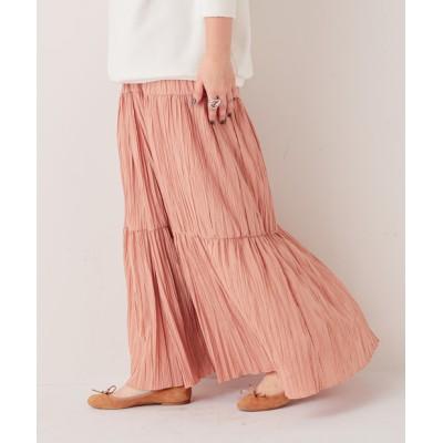 《予約・ウエストゴムで穿きやすい》ティアードプリーツスカート