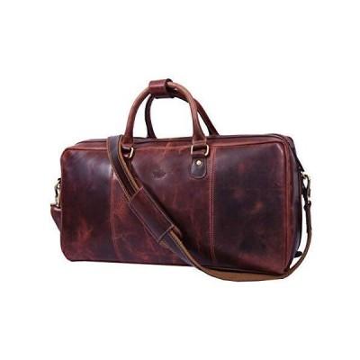 Leather Travel Duffle Bag | Gym Sports Bag Airplane Luggage Carry-On Bag (Walnut) 並行輸入品