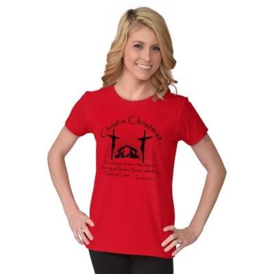 レディース 衣類 トップス Jesus Tees Shirts Tshirts For Womens Christ Is Christmas Christian Holiday Tシャツ