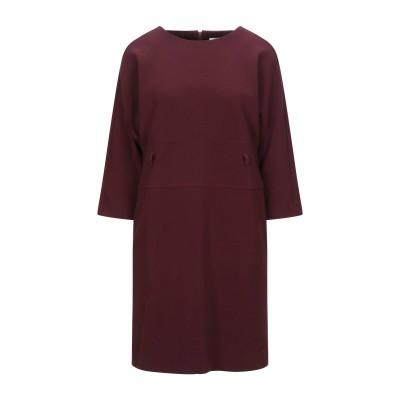 CA' VAGAN ミニワンピース&ドレス ボルドー M ポリエステル 62% / レーヨン 34% / ポリウレタン 4% ミニワンピース&ドレス