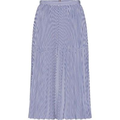 トミー ヒルフィガー Tommy Hilfiger レディース ひざ丈スカート スカート Daisy Stripe Midi-Skirt Cleo blue stripe