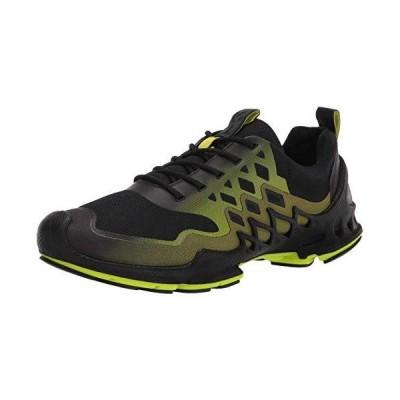 ECCO mens Biom Aex Trainer Sneaker, Black/Lime Punch Textile, 10-10.5 US【並行輸入品】