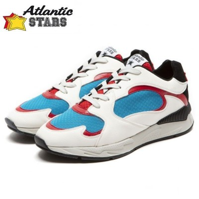 Atlantic Stars (アトランティックスターズ)PEACOCK ピーコック BAR-I06 ホワイト×レッド   スニーカー メンズ