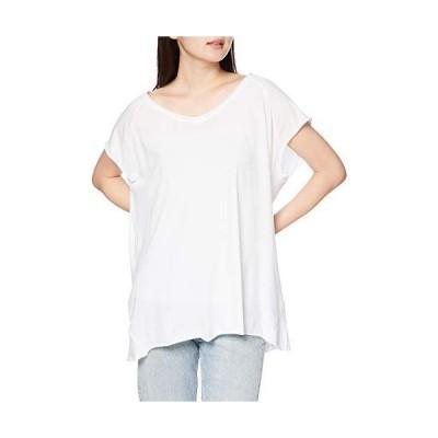リプレイ ガーメントダイ コットンクレープジャージーTシャツ T-Shirts レディース ホワイト EU M (日本サイズL相当)