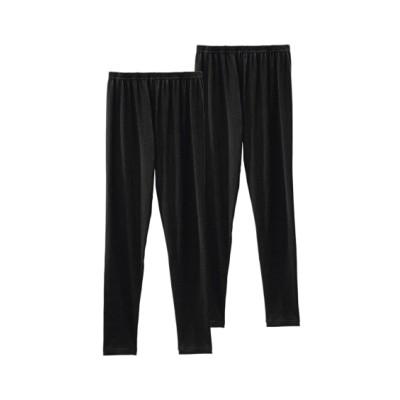 綿混10分丈レギンス2枚組(M~L) (レギンス・スパッツ・オーバーパンツ)Leggings