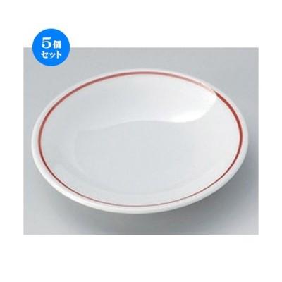 5個セット ☆ 小皿 ☆赤筋反3.0皿 [ 10 x 2cm 77g ] 【 料亭 旅館 和食器 飲食店 業務用 】