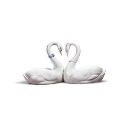 Lladro (リヤドロ) 白鳥 鳥 とり トリ スワン 動物 カップル 結婚祝い 「エンドレスラブ #6585」
