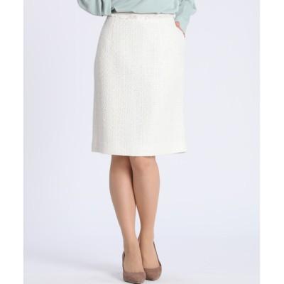 【マルシェ ド クリアインプレッション/MARCHE de CLEAR IMPRESSION】 ツイードAラインスカート