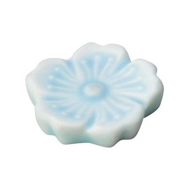 光洋陶器 花衣 箸置き ブルー 56481052
