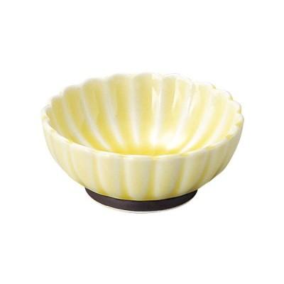 美濃焼 かすみ 黄 7cm浅小鉢 食器 日本製 小鉢 ボウル 取り鉢 和食器 D-6.8 H-2.7(cm)