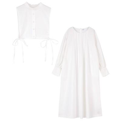 ヨークレイヤードロングシャツワンピース ティティベイト titivate (ワンピース)Dress