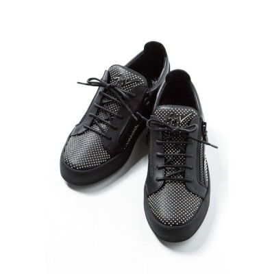 ジュゼッペザノッティ スニーカー ローカット シューズ 靴 メンズ RU6095 ブラック GIUSEPPE ZANOTTI