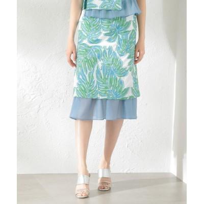 【ラブレス】 WOMEN Creative line リーフジャカードスカート レディース オフホワイト 36 LOVELESS