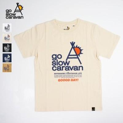 go slow caravan / USA/C 天竺 gsc LOGO コンセプト SS TEE (ゴースローキャラバン) (UNISEX) (331908) (2020春夏) (ネコポス対応商品)