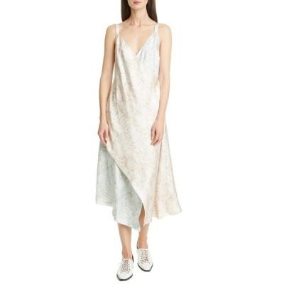 シエス・マルジャン ワンピース トップス レディース Alicia Snake Print Silk Twill Faux Wrap Midi Dress Beige/ Blue/ Pink