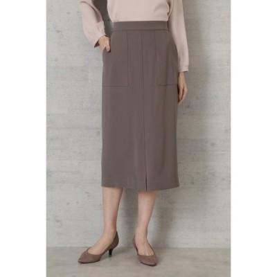 スカート ダブルサテンスカート