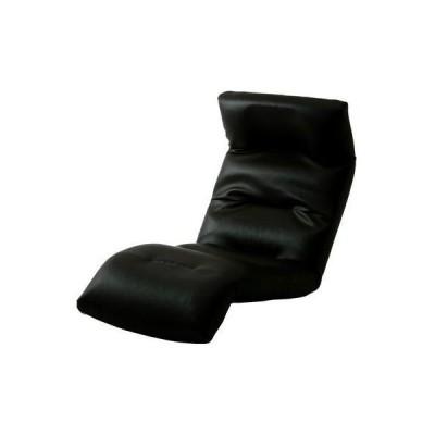 【納期目安:1週間】10163-011 和楽の雲 日本製座椅子・2タイプ・リクライニング付きチェアー (上 PVC ブラック) (沖縄・離島配送不可)