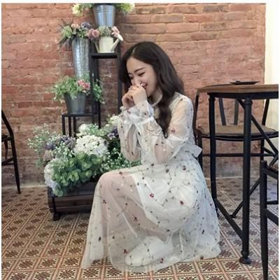 送料無料!2点セット3色全 綿 麻2点セット ロングスカート スカート  無地 体型カバー 文芸 韓国ファッション