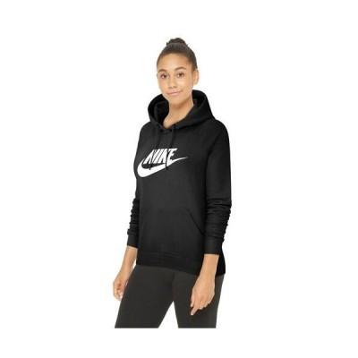 (取寄)ナイキ レディース エッセンシャル プルオーバー フリース フーディ Nike Women's Essential Pullover Fleece Hoodie Black White