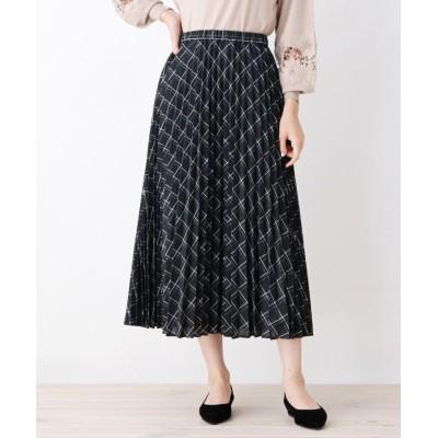 grove(グローブ) 【WEB限定サイズあり】チェックプリーツスカート