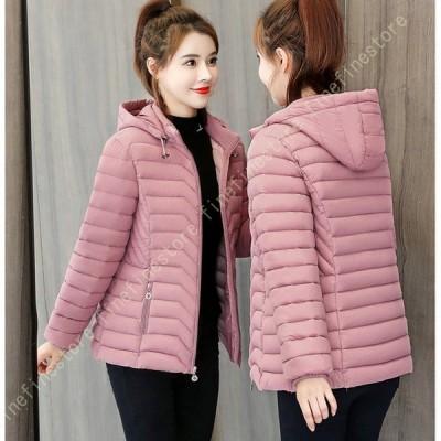 ダウンジャケット レディース ショート丈 軽量 大きいサイズ ライトダウン コンパクト ダウン コート ジャケット アウター 暖かい 防風 アウトドア 冬