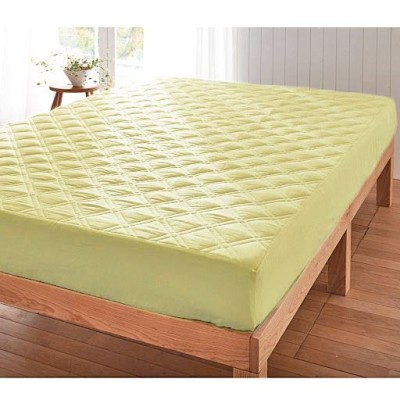 パッド一体型ベッドシーツ「丈夫でしっかり」肌側綿100%ツイル/オリーブグリーン/セミシングル(80×200×高さ25cm)